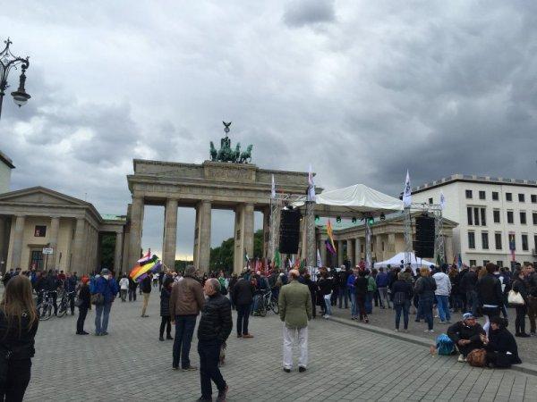 Berlin-Brandenburg Gate on a Rainy Day